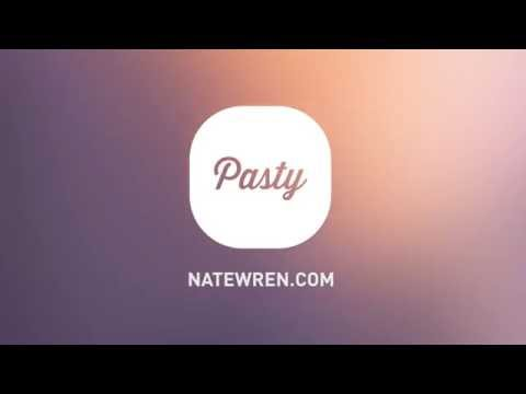 Video of Pasty - Clean White Flat Theme