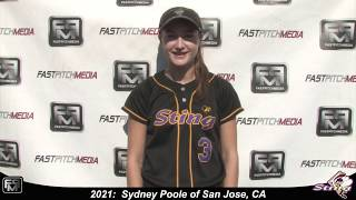 2021 Sydney Poole Speedy Slapper Outfield & Middle Infield Softball Skills Video - San Jose Sting