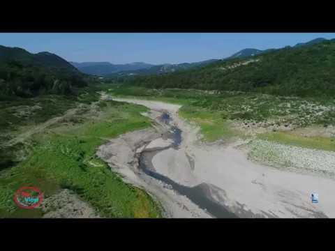 Emergenza siccità: la diga di Mignano in secca vista dal drone