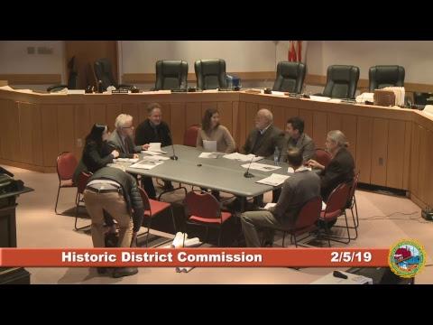 Historic District Commission 2.6.19