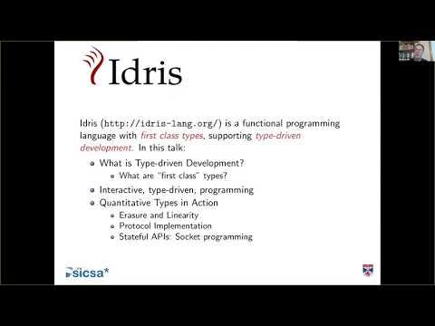 Edwin Brady Tells Us What's New in Idris 2 (Berlin Functional Programming Group)