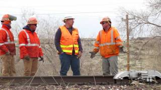BNSF Railroad Track Maintenance Crew ~ Kingman AZ