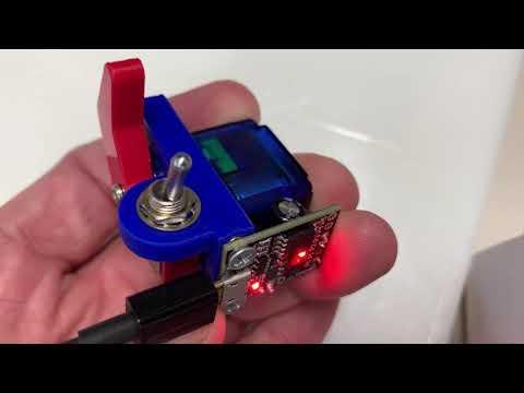 Una máquina inútil minimalista construida con Arduino y pequeñas piezas de impresión 3D