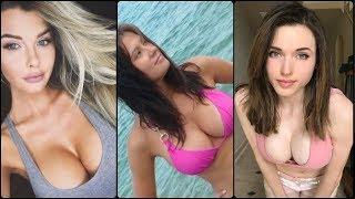 Красивые девушки с шикарной грудью! Чувственное видео с милыми девушками!