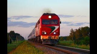 Тепловоз ТЭП70БС-106 с поездом №670 Минск - Гомель.