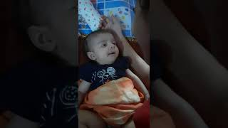 2 months old baby making sound