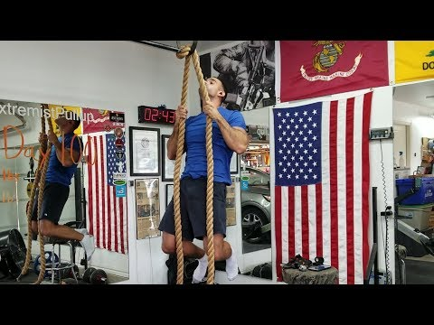 Day 101 of 100 pull-ups, Encore! Rope Pull-ups