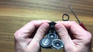 So öffnet man einen Philips Sensotouch Rasierkopf