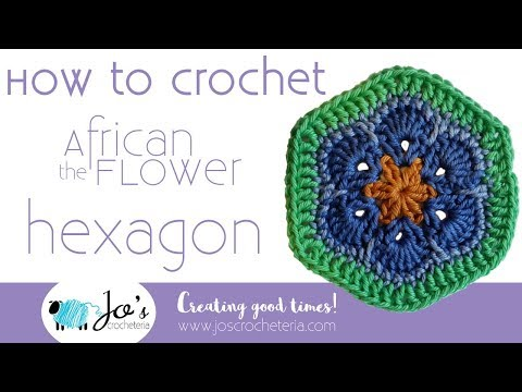 Crochet African Flower Hexagon Video Tutorial By Jos Crocheteria