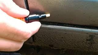 маркер против царапин, Fix it pro, тестирую на своей машине карандаш
