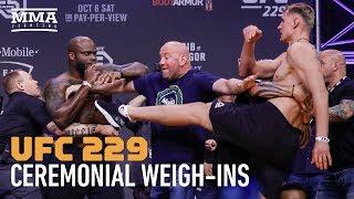 UFC 229: Khabib vs. McGregor Ceremonial Weigh-in Highlights - MMA Fighting