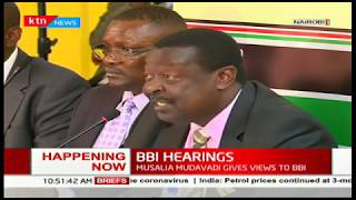 Musalia Mudavadi appears before BBI Team to make constitutional amendment recommendations