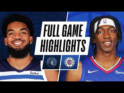 Los Angeles Clippers vs Minnesota Timberwolves</a> 2021-10-12