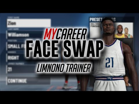 NBA 2K0 PC - Real Face Scans in MyCareer - Limnono Trainer Method tutorial