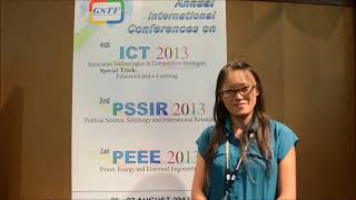 Ms. Roh Pin Lee at PSSIR Conference 2013 by GSTF Singapore