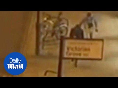 CCTV: Knife thug mugs stranger before stabbing a policeman - Daily Mail