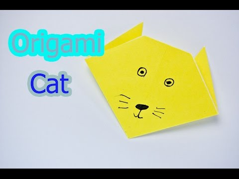 Origami cat face/easy origami for kids/diy paper toy/crafts paper ...   360x480