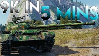 I did 9200 Damage in 5 Minutes - With Reaction - World of Tanks