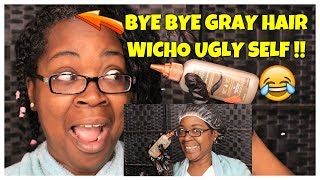 I DYED MY GRAY HAIRS  FINALLY / CLAIROL GRAY SOLUTIONS /GOLDMOUTH