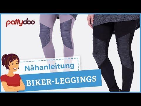 Biker Leggings mit Biesen/Falten nähen - Tipps zum Nähen von Kunstleder