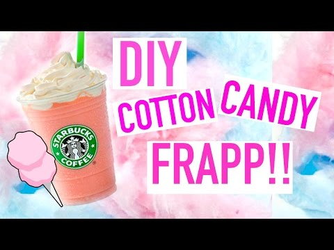 Video DIY: Cotton Candy Frappuccino | Starbucks Recipe SUMMER DRINKS!