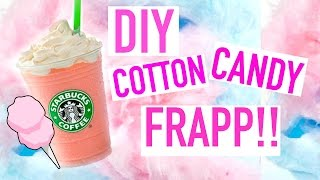 DIY: Cotton Candy Frappuccino | Starbucks Recipe SUMMER DRINKS!