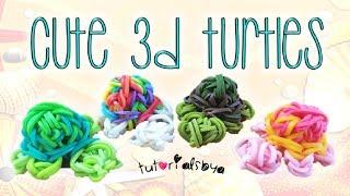 NEW 3D Turtle Rainbow Loom Charm Tutorial | How To