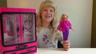 Обзор на новый шкаф для Барби Fashionistas 2018. Кукла Барби одевалки. Аксессуары для Барби / Barbie