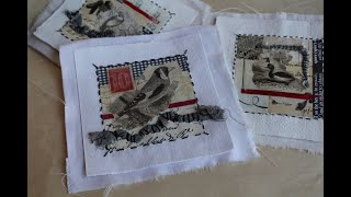 Mixed Media Art - Bird Quilt Project Tutorial
