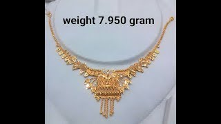 Light Weight Gold Necklaces Designs With Weight
