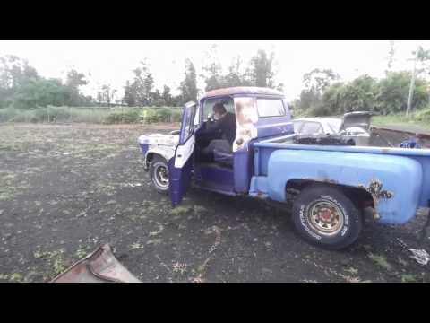 Driving The Rusty $200 Abondoned 56 Chevy Cheap Truck Stepside Junkyard Rescue Barn Find