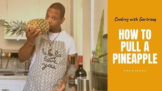 How to pull apart a pineapple fail | pineapple peeling