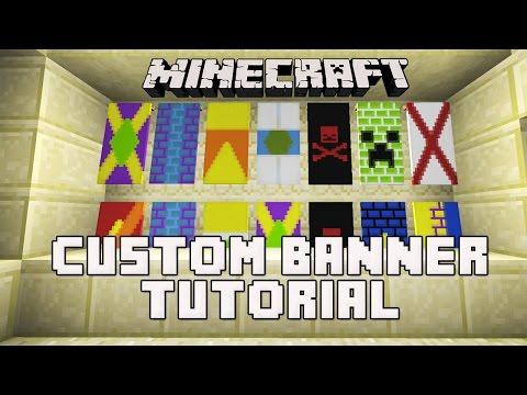 Minecraft Snapshot 14w30b:  How To Make Banners  (Custom Banner Flag Tutorial)