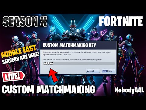 🔴 (MIDDLE EAST) CUSTOM MATCHMAKING SOLO/DUO/SQUAD FORTNITE SEASON X LIVE/PS4,XBOX,PC,MOBILE,SWITCH