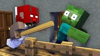 Monster School : GRANNY VS MOBS HORROR CHALLENGE - Minecraft Animation