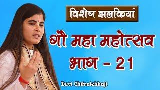 गौ महा महोत्सव भाग - 21  गौ सेवा धाम Devi Chitralekhaji