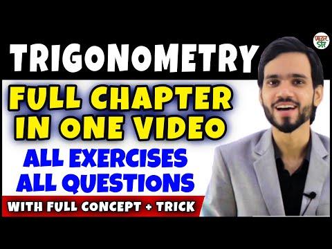 Trigonometry    Trigonometry Class 10 Chapter 8   Maths Full Chapter  Concept/Exercises/Basics/Hindi
