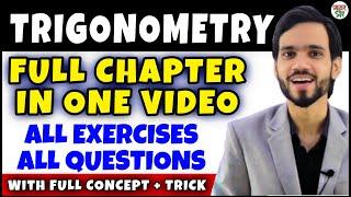 Trigonometry |  Trigonometry Class 10 Chapter 8 | Maths Full Chapter| Concept/Exercises/Basics/Hindi