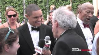 ShowbizExpress with Trevor Noah on the Red Carpet at Emmys 2015