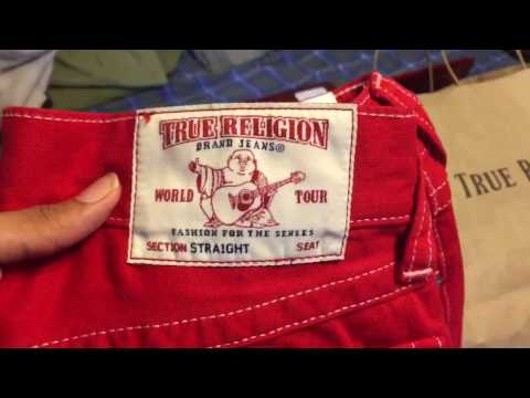 My First Pair of True Religion Red Jeans Review