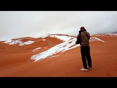 Africká rána globálnímu oteplování: Na Sahaře i letos pořádně nasněžilo, místy až 40 cm