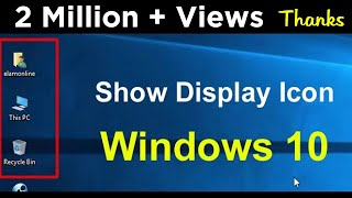 How To Show Icon On Desktop in windows 10 Urdu/Hindi