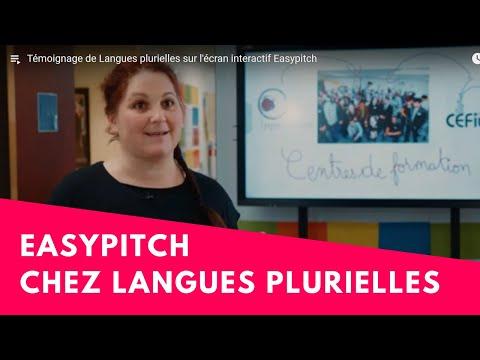 Témoignage de Langues plurielles sur l'écran interactif Easypitch