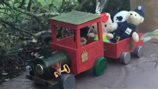 DollarTree DIY L Christmas Train L Wooden L Crafts L Toys Holiday Decor Traditional