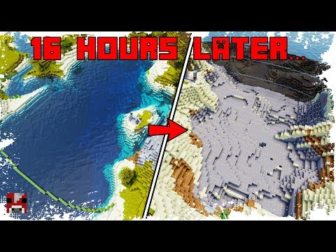 Kineticraft Timelapse - Draining an Ocean ... IN SURVIVAL
