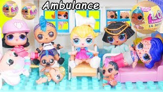 JOJO Siwa Unicorn LOL Surprise Doll Ambulance Visit Hospital + Doctor Pharaoh Punk, Peppa Pig Toy