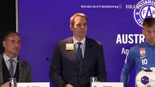 Pressekonferenz mit dem FK Austria Wien