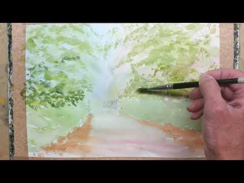 Thumbnail of Painting Greens using Watercolour.