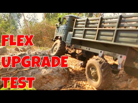 FLEX TEST | WPL SUSPENSION UPGRADE | METAL LEAF SPRINGS AND RIM WEIGHTS | RC WITH POPEYE