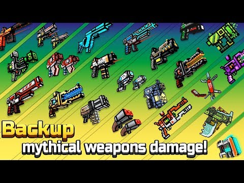 Pixel Gun 3D - Backup Mythical Weapons Shots Damage + Reloading Animations